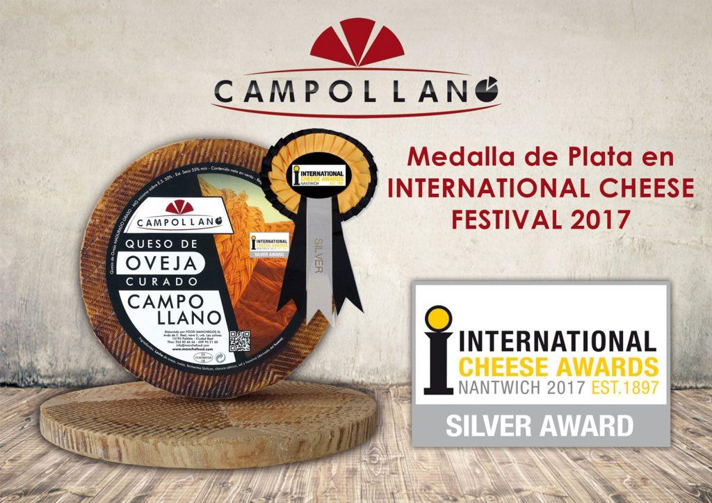 Medalla de Plata en International Cheese en el Festival del 2017